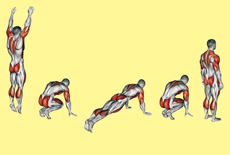 Как правильно делать упражнение бурпи