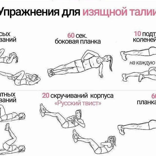 Упражнения для талии. как уменьшить талию девушкам за 3 недели