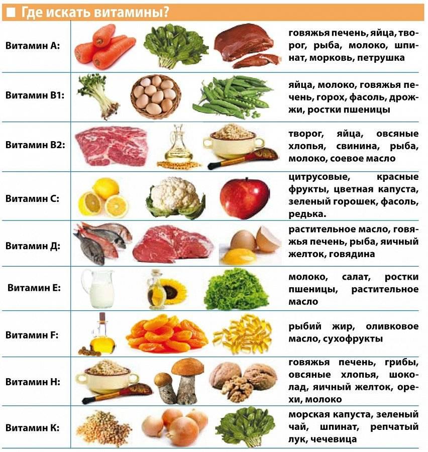 15 продуктов с высоким содержанием витаминов группы в