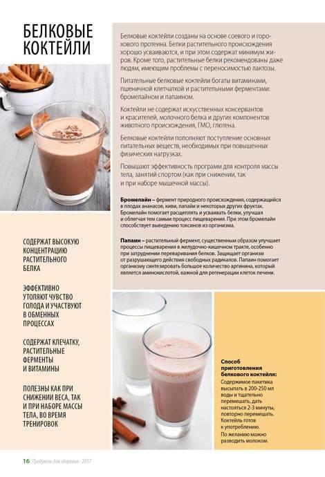 Белковый коктейль: рецепты и правила приема для похудения и массы