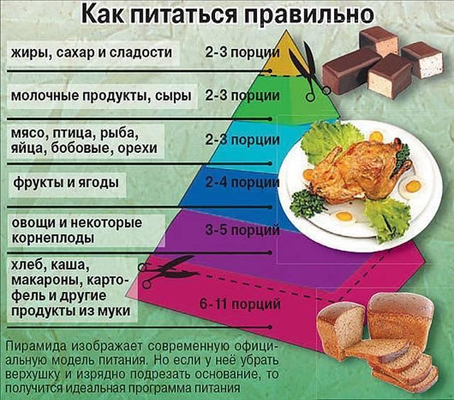 Меню, правильного питатания на весь день, оптимальный набор блюд