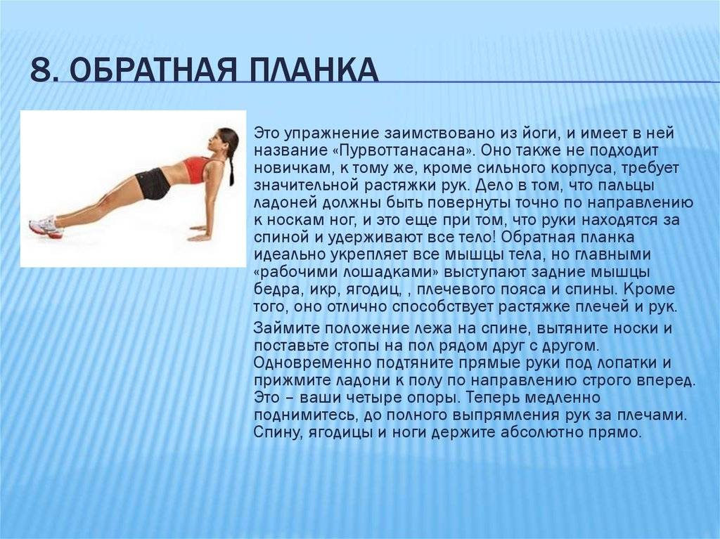 Упражнение планка: правила и варианты (фото)