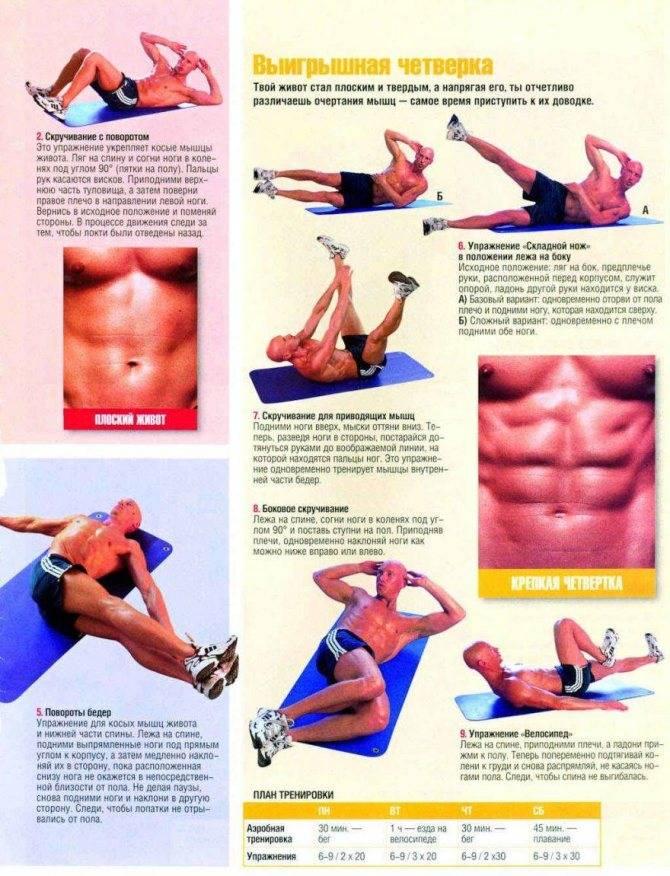 Лучшие упражнения на нижний пресс, чтобы накачать кубики внизу живота