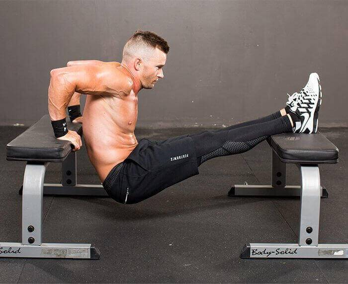 Обратные отжимания от скамьи и пола: тренировка трицепсов | rulebody.ru — правила тела