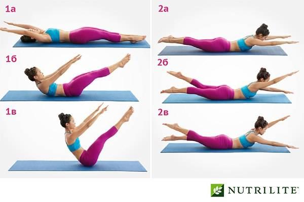 12 упражнений пилатес для начинающих в домашних условиях с картинками для пресса и талии, чтобы убрать живот и бока