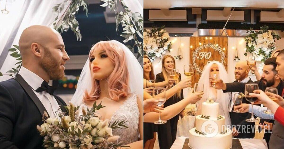 Сломалась секс-кукла, на которой женился бодибилдер из казахстана