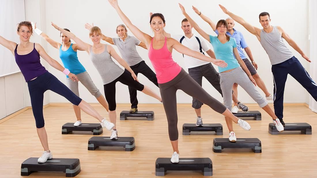 Степ-аэробика: упражнения для похудения