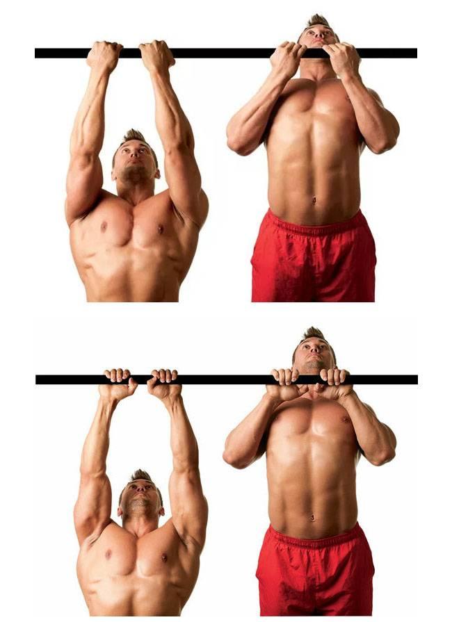 Как правильно выполнять подтягивания обратным хватом, какие хваты больше подходят спины и бицепсов