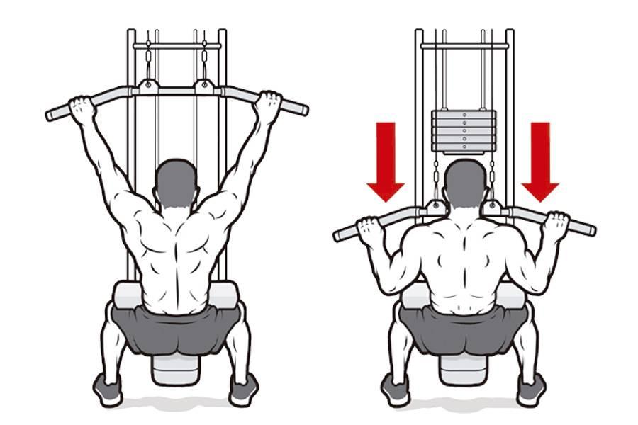 Тяга верхнего блока к груди: правильная техника, советы