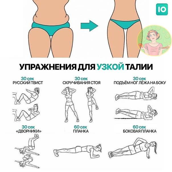 Как сделать тонкую талию: комплекс упражнений в домашних условиях