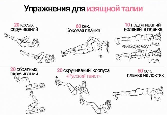 Как сделать талию тонкой за неделю в домашних условиях: упражнения для тонкой талии дома