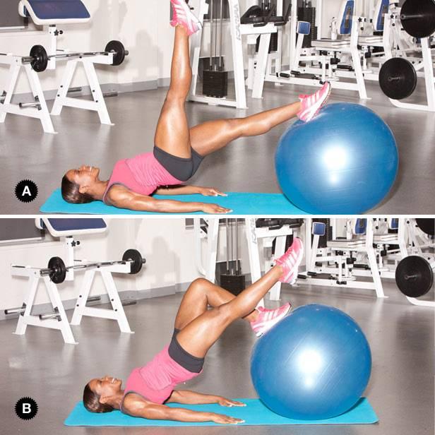 Упражнения на фитболе для похудения живота, бедер и ягодиц