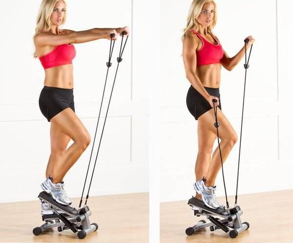 Лучшие упражнения для прокачки ног и ягодиц на степпере