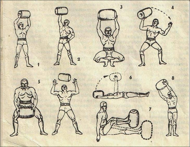 Сухожильные упражнения александра засса - железного самсона. -