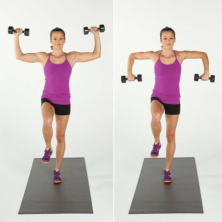 Упражнения с гантелями для женщин и девушек: комплекс для похудения с видео (10+ фото и видео)
