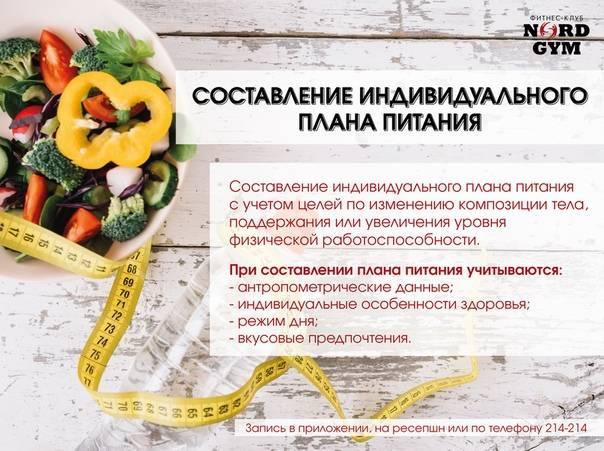 Планирование питания в целях похудения