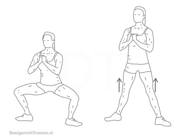 Приседание плие: техника выполнения с собственным весом, гирей, штангой или гантелью в тренажере смита, дома или на улице