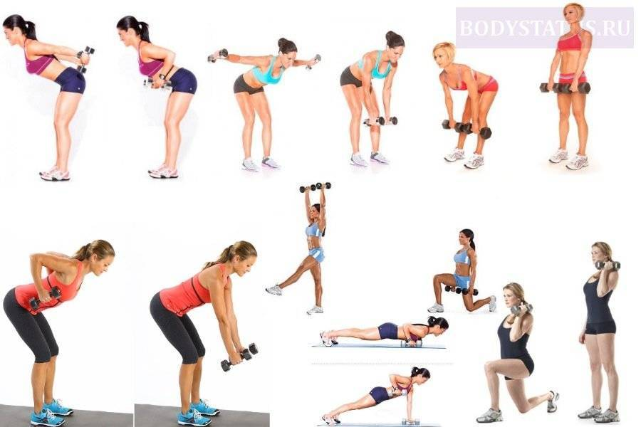 Упражнения для женщин с гантелями, которые проработают все тело на дому