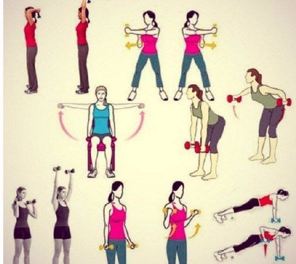 Топ 7 эффективных упражнений для похудения рук и плеч