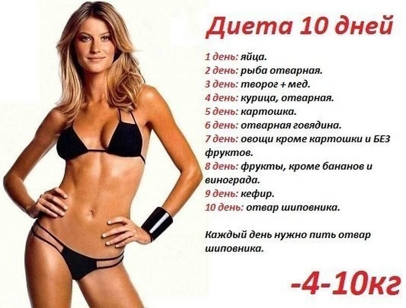 Меню для похудения. пп меню на неделю и каждый день для похудения