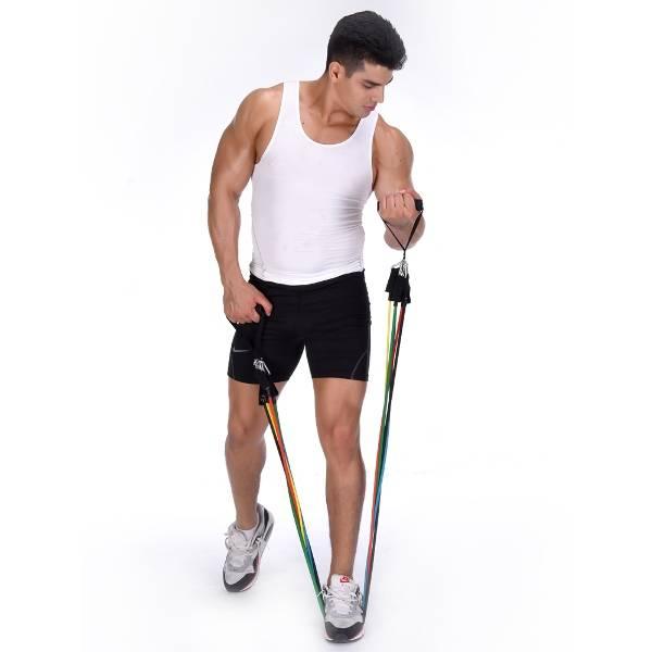 Эспандер восьмерка: упражнения для мышц рук, ног, ягодиц, спины, груди и живота