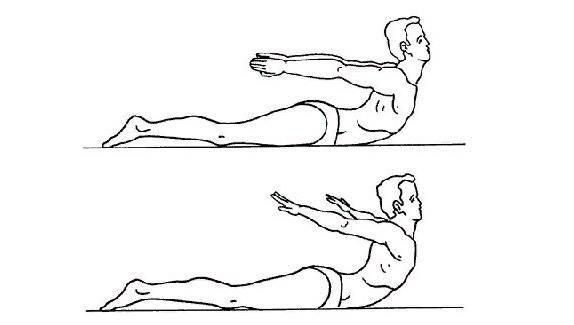 Упражнение ласточка для спины лежа