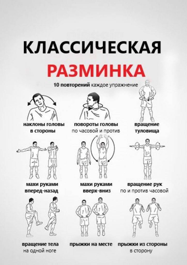 Разминка перед тренировкой. комплекс упражнений фитнес-тренеров