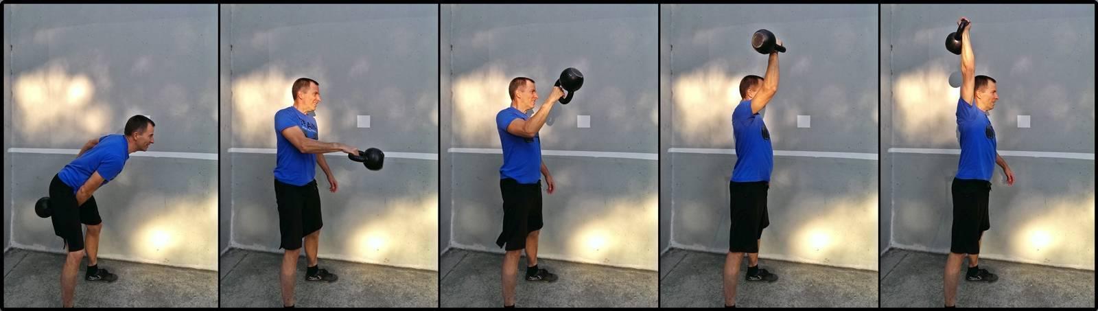 Рывок и толчок гири - техника выполнения упражнения