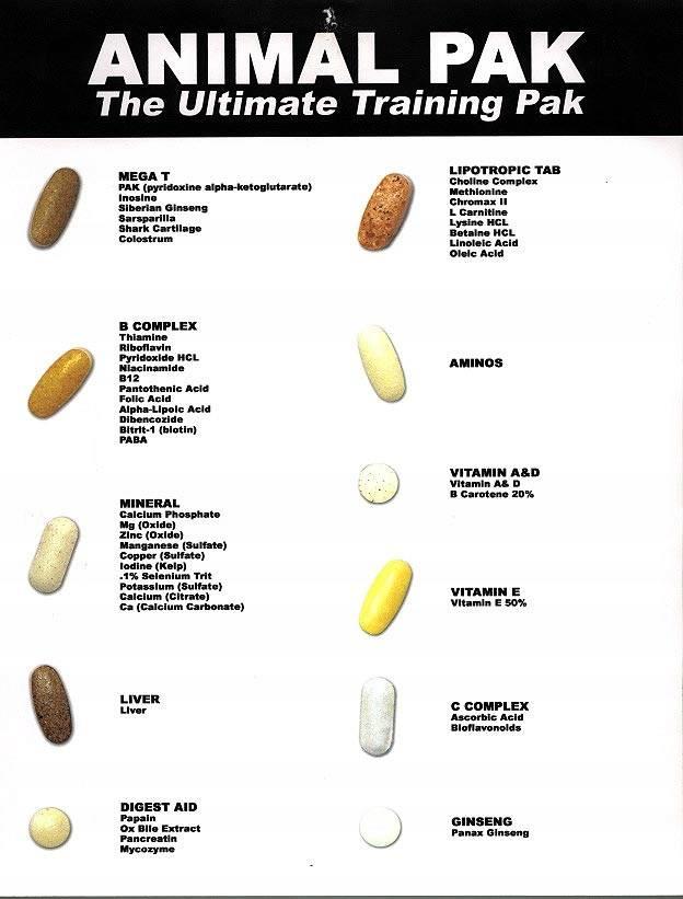 Пищевая добавка animal flex от universal nutrition