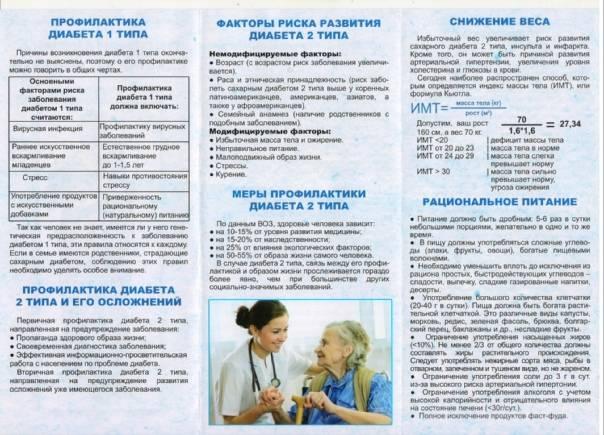 Сахарный диабет. профилактика, рекомендации.