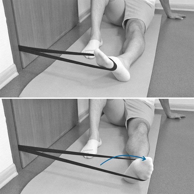 Реабилитационные упражнения при растяжении связок голеностопного сустава
