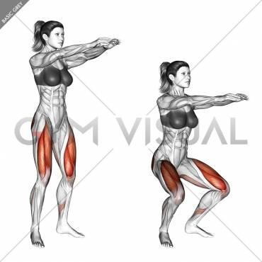 Упражнение стульчик у стены и без: какие мышцы работают, польза и как правильно делать