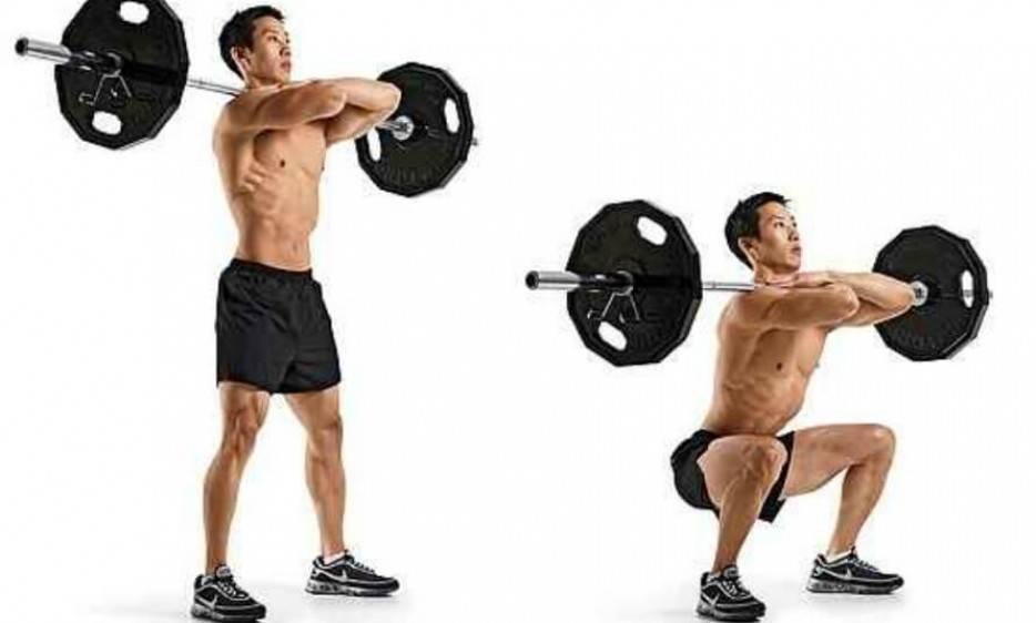 Разновидности фронтальных приседаний, программа тренировок, выбор веса