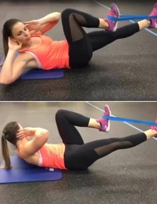 Эффективные упражнения с резинкой для женщин