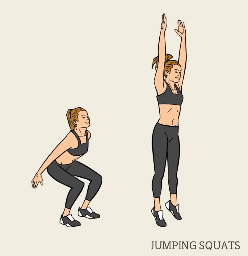 Упражнение выпрыгивание вверх: техника выполнения и последовательность действий