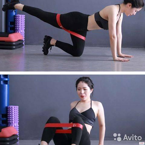 Тренировки с фитнес-резинкой: упражнения для ног и ягодиц, грудных, рук и пресса