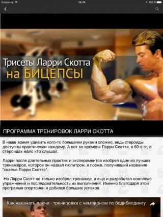 Программа от ларри скотта, бицепс 54 см без стероидов
