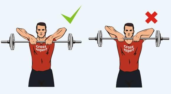 Тяга штанги к подбородку — fit4gym - бодибилдинг и фитнес для начинающих