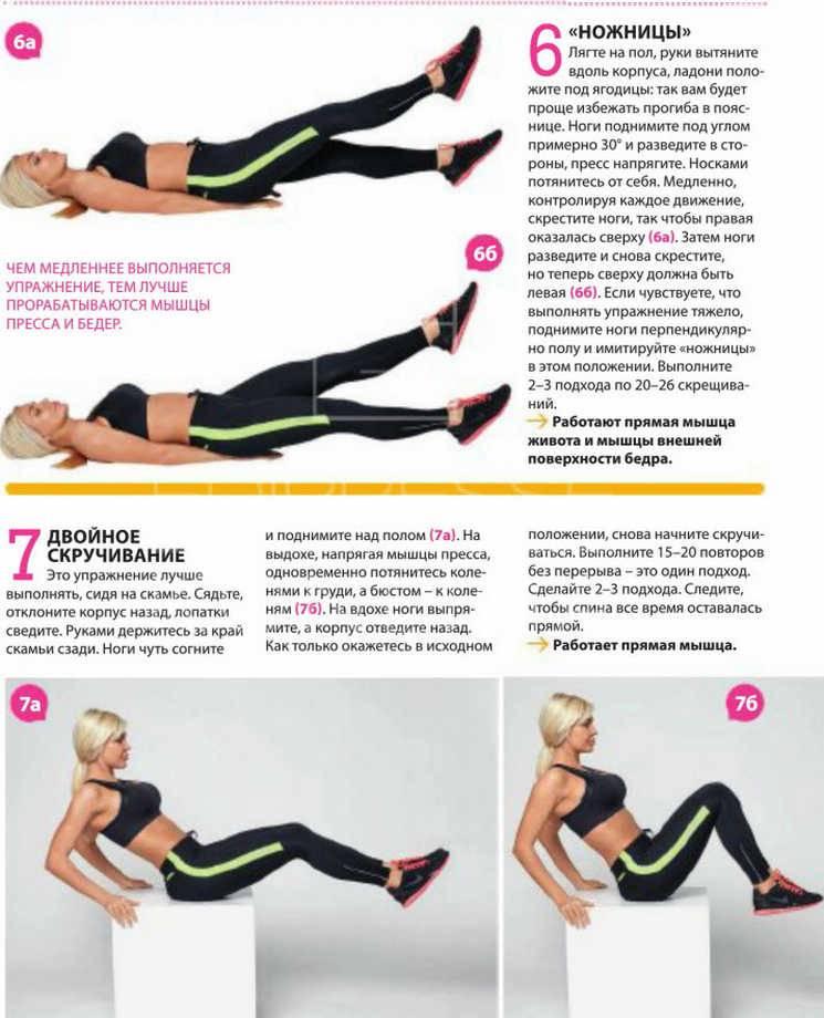 Как убрать галифе на бедрах: топ-30 упражнений (фото)