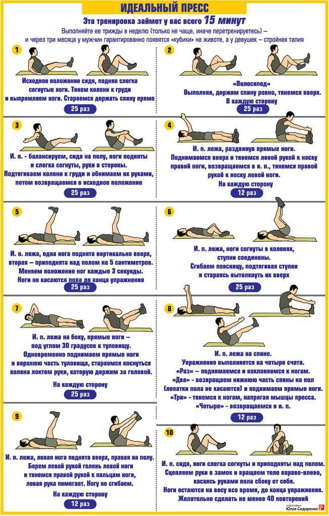 Как накачать пресс: упражнения для пресса в домашних условиях мужчинам