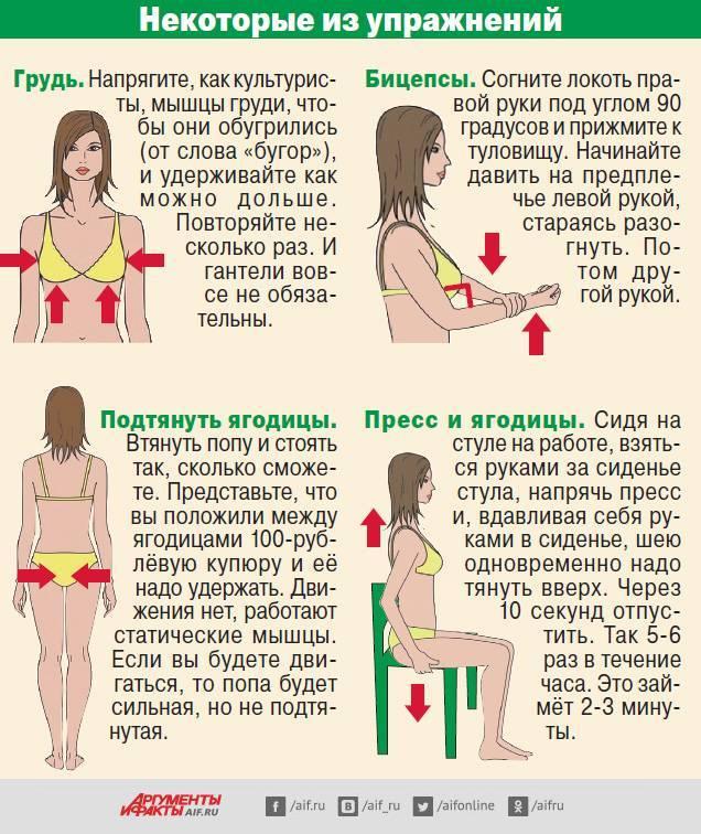 Упражнения для подтяжки груди в домашних условиях и спортзале